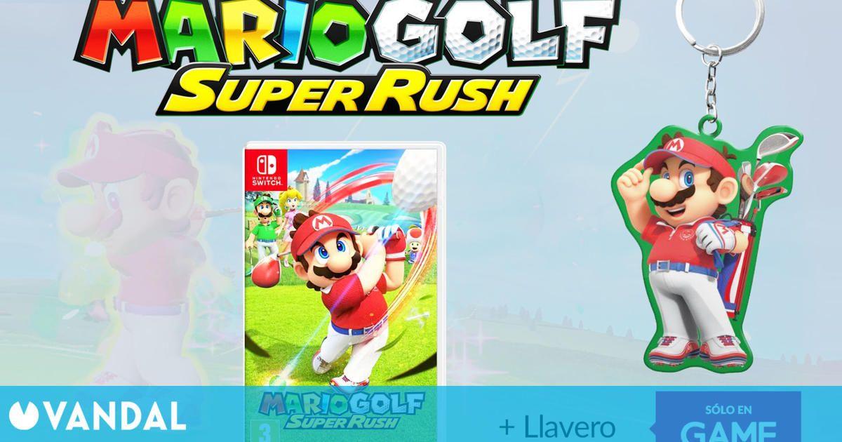 Ya se puede reservar Mario Golf Super Rush en GAME con llavero exclusivo de regalo