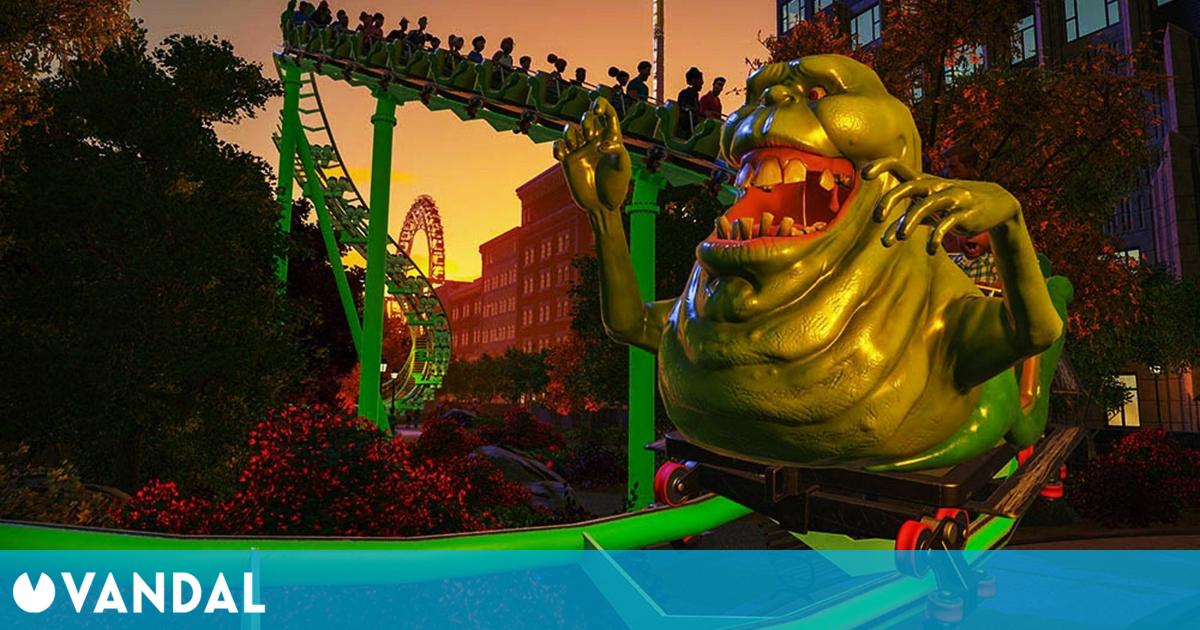El cine llega a tu parque de atracciones con Planet Coaster: Ghostbusters y Studios Pack