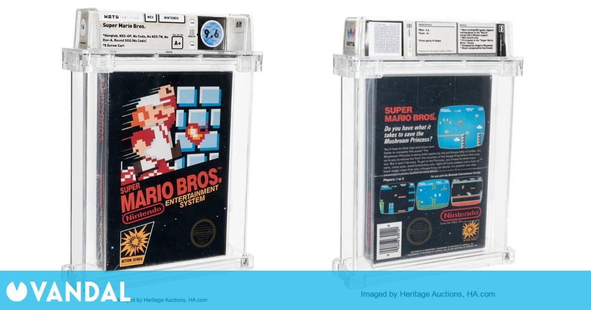 Venden un Super Mario Bros. por 660.000 dólares convirtiéndolo en el juego más caro del mundo