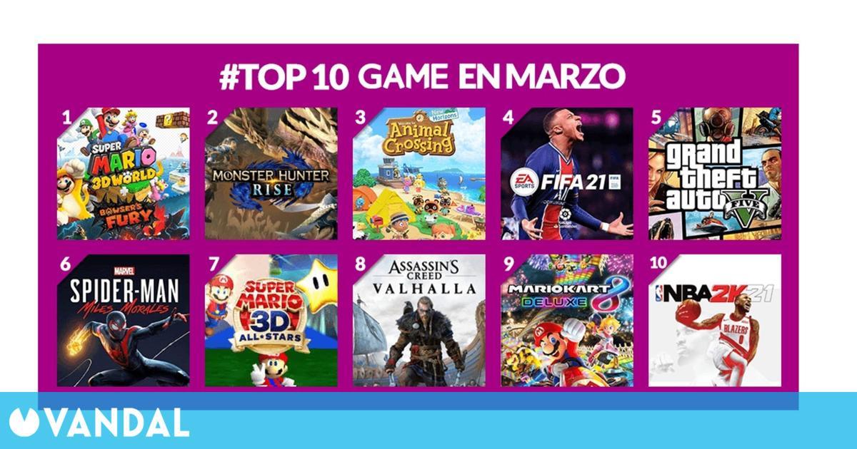 GAME España revela que Super Mario 3D World + Bowser's Fury fue el más vendido de marzo