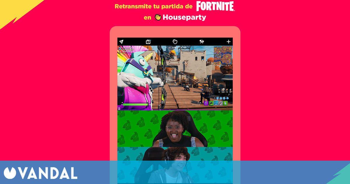 Fortnite permite retransmitir tus partidas para tus amigos en Houseparty