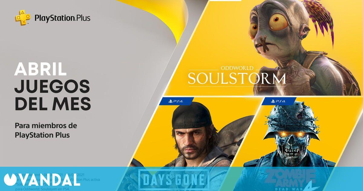Ya disponibles los juegos gratis de PS Plus en abril de 2021 para PS4 y PS5