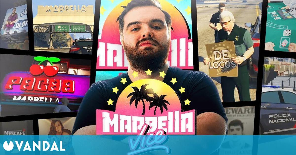 Ibai nos enseña la ciudad de Marbella Vice en su servidor de GTA Online