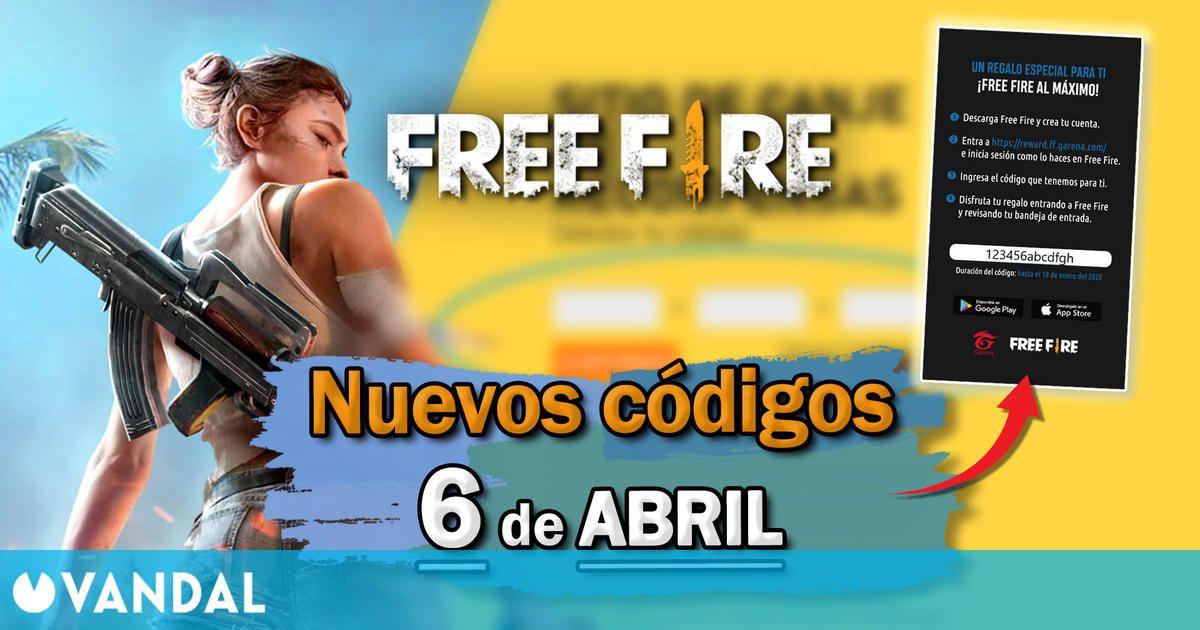 Free Fire: nuevos códigos gratis para hoy martes 6 de Abril de 2021