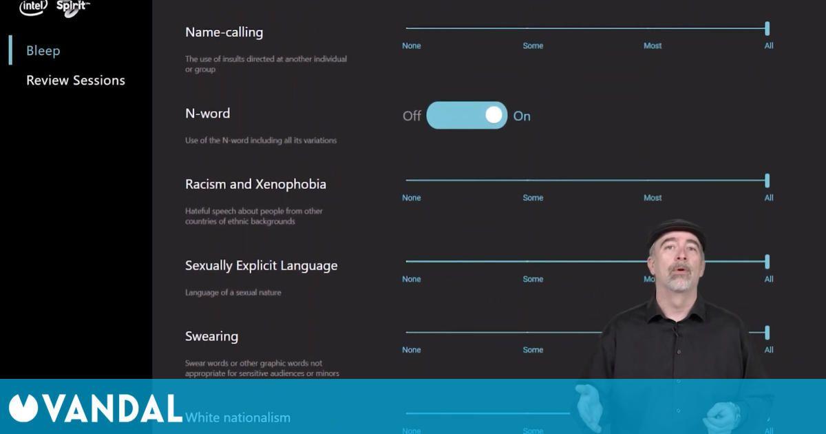 Intel responde a las críticas a Bleep, su tecnología para eliminar insultos