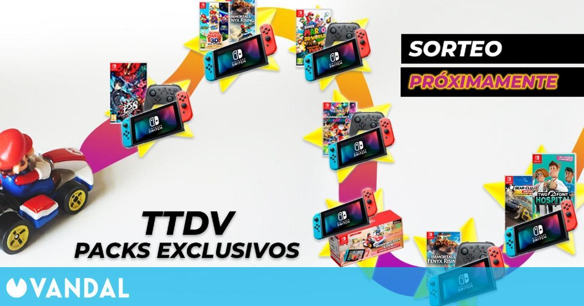 TTDV presenta packs exclusivos de Nintendo Switch y realizará un sorteo