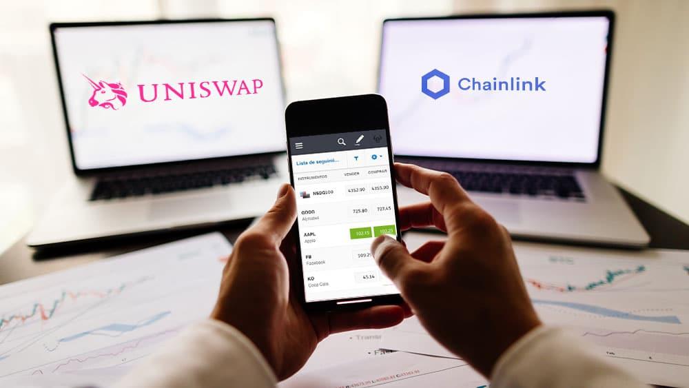 Ahora se puede invertir en Uniswap y Chainlink a través de eToro
