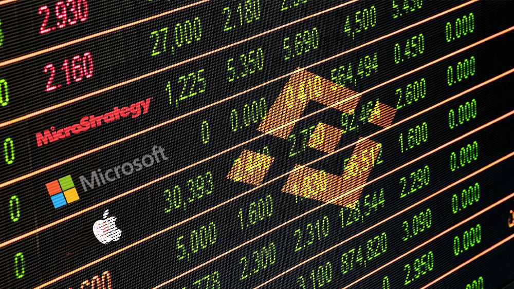 Binance lanza tokens de acciones de Apple, Microsoft y MicroStrategy
