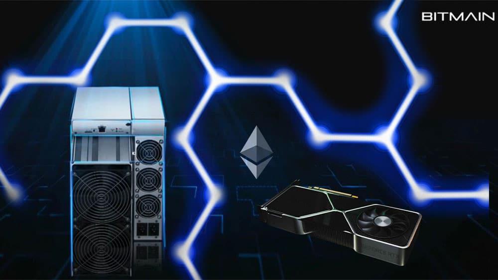 Nuevo AntMiner para Ethereum mina el equivalente a 32 NVIDIA RTX 3080