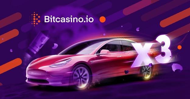 El nuevo juego de Bitcasino ofrece a 3 jugadores la oportunidad de ganar un Tesla valorado en 58.560 €