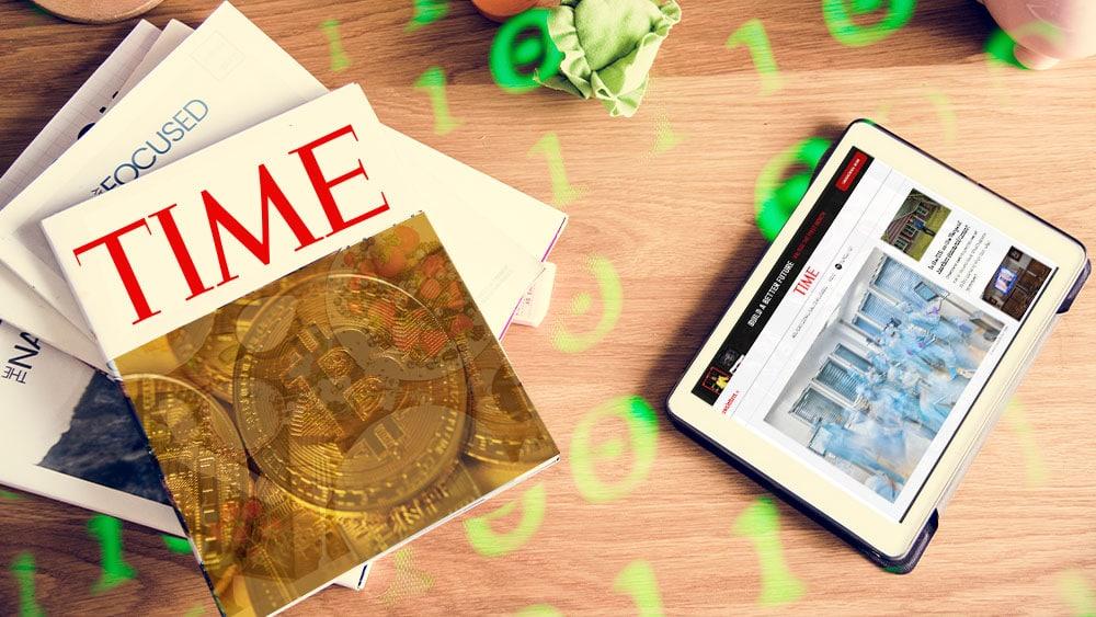 Versión digital de la revista TIME ahora puede ser adquirida en bitcoin