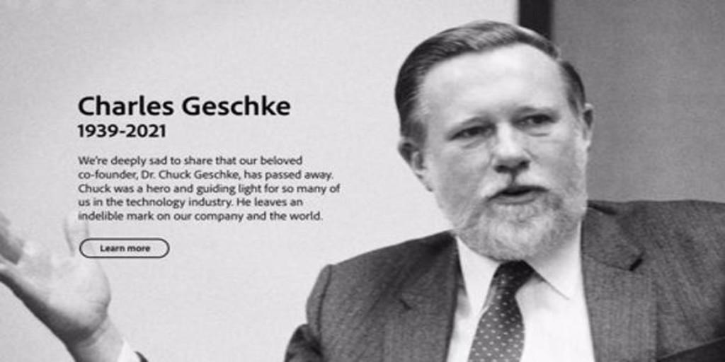 Muere el cofundador de Adobe, Charles Geschke, a los 81 años