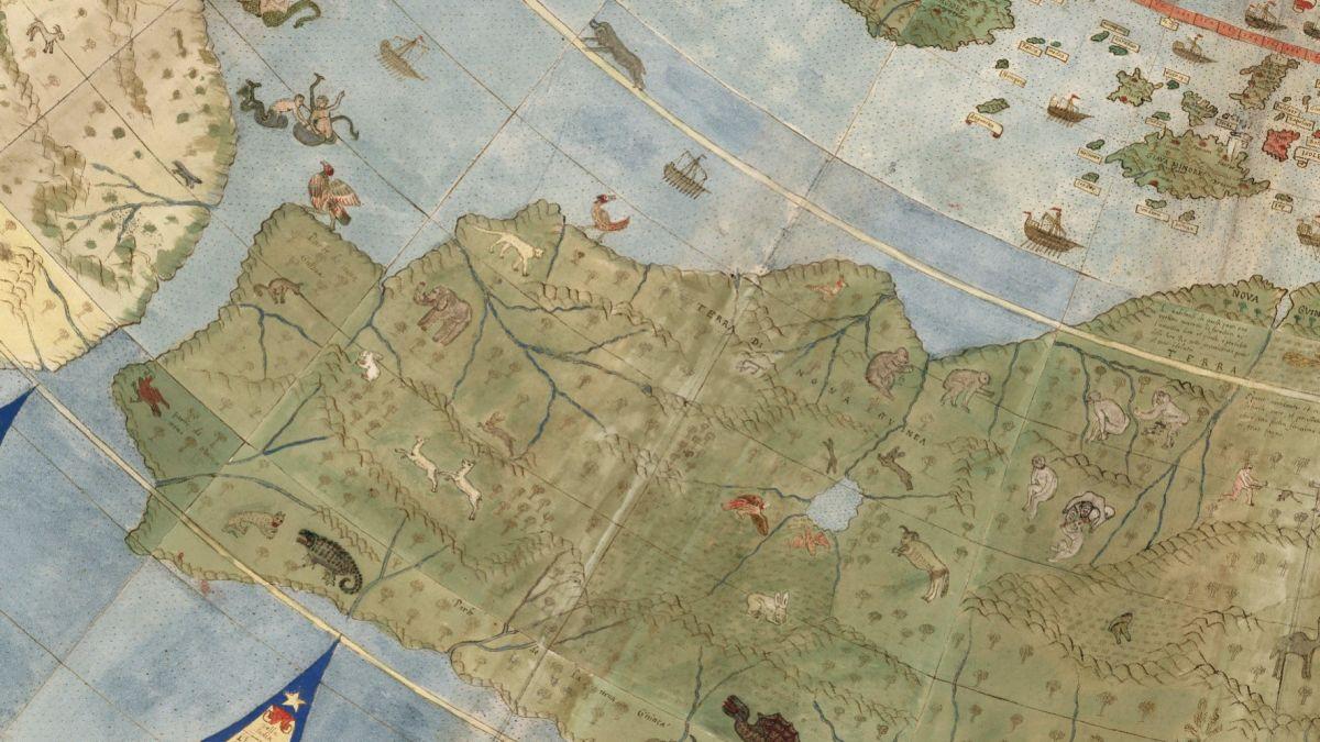 Así es navegar por el mapamundi más grande de la antigüedad