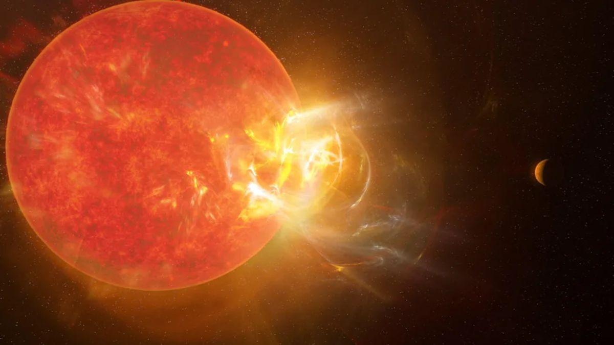 Una llamarada solar de tipo desconocido en Próxima b