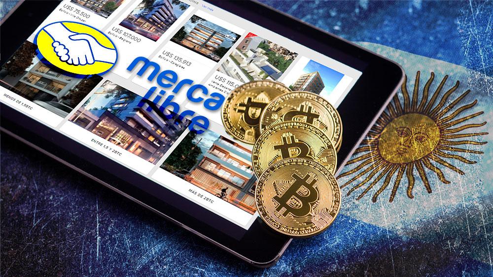 Mercado Libre Argentina incorpora sección para compraventa de inmuebles con bitcoin