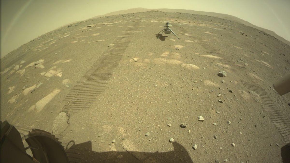 El helicóptero Ingenuity pasa su primera noche sobre la superficie de Marte