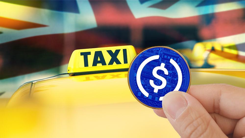 Pronto se podrá pagar taxis con USD Coin en Reino Unido y Escandinavia