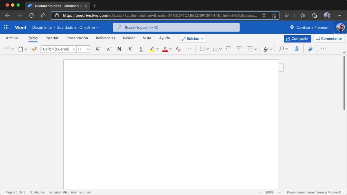 Amable recordatorio de que existe una versión gratuita de Office