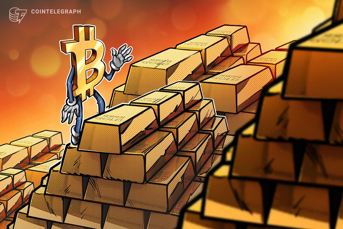 El oro alcanza máximos de cuatro meses luego de la caída de las criptomonedas