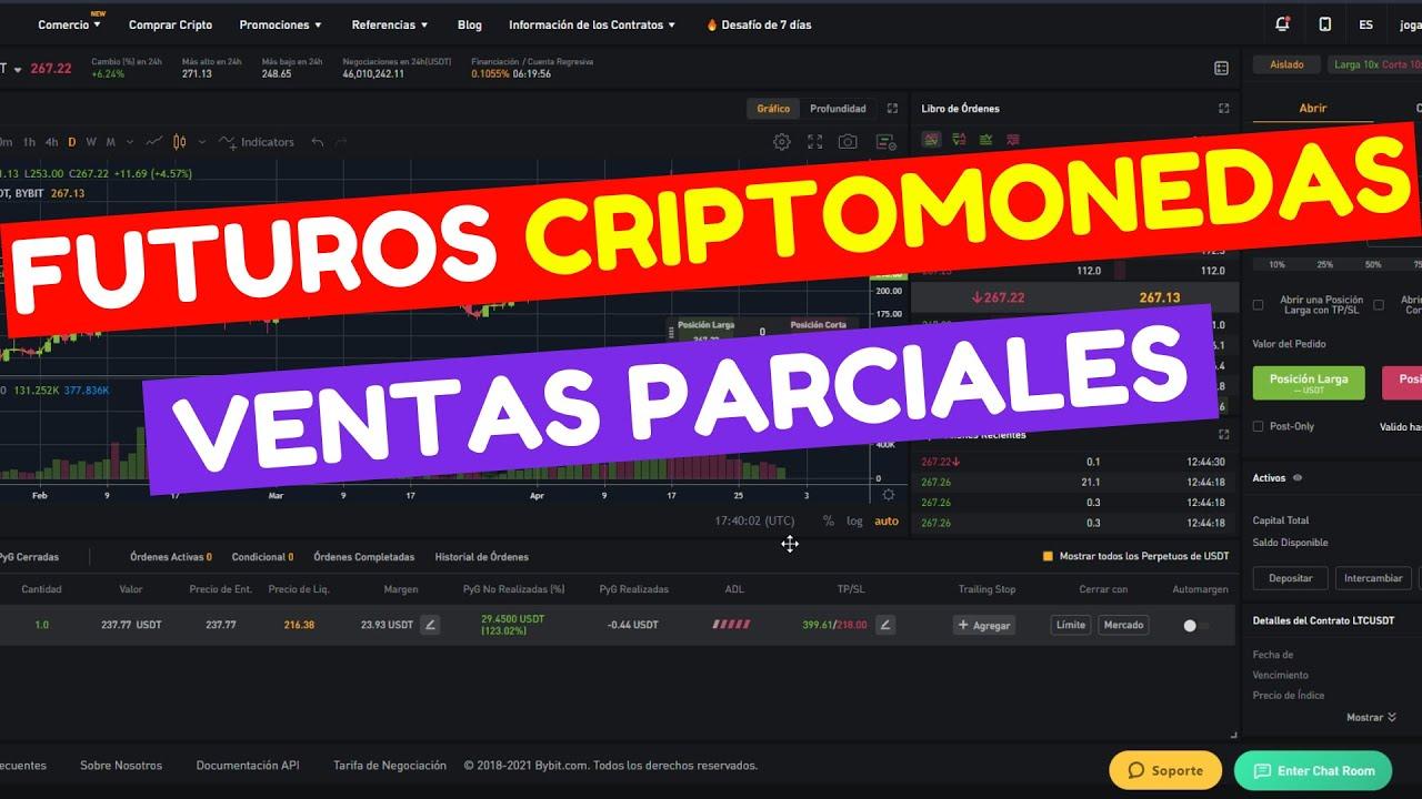 TRADING EN VIVO FUTUROS DE CRIPTOMONEDAS [Como hacer ventas parciales] Tutorial en español