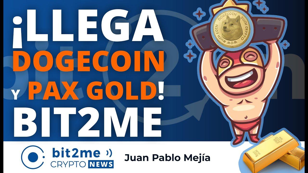 🔵 🆕 ¡Llega DOGECOIN y PAX GOLD! a Bit2Me – Bit2Me Crypto News