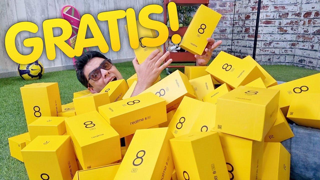 55 TELÉFONOS GRATIS en DIRECTO!!!!!!! #realme8con5G