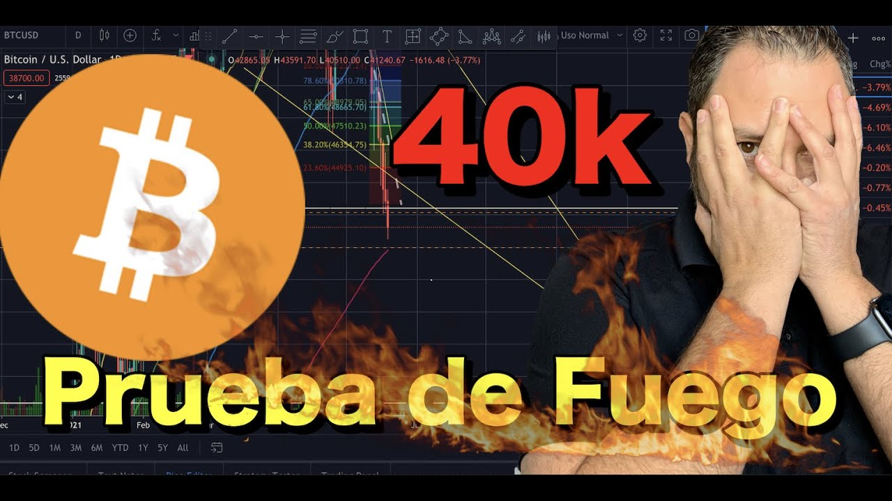 🔴 Bitcoin…  prueba de FUEGO🔥 !!  40k….
