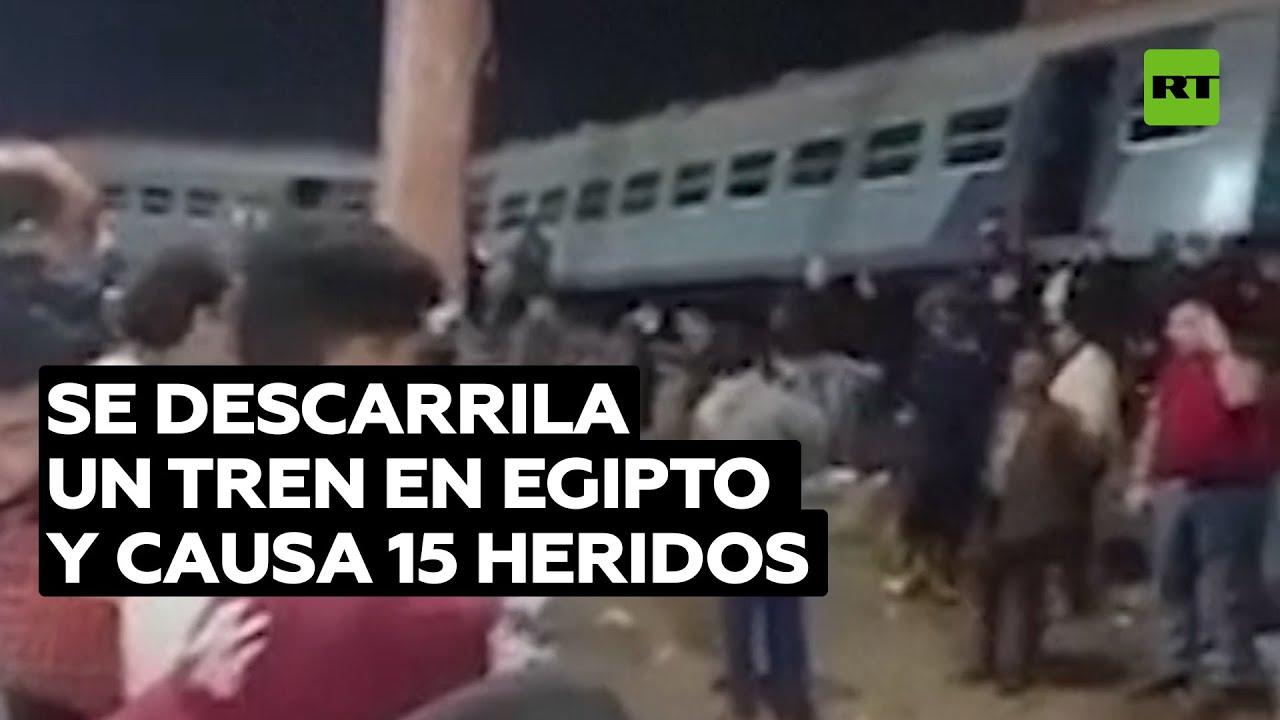 Se descarrila un tren en Egipto y causa 15 heridos