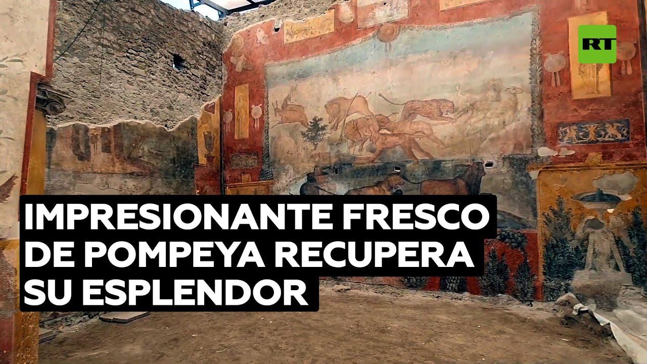 Uno de los más impresionantes frescos de Pompeya recupera su esplendor tras su reciente restauración