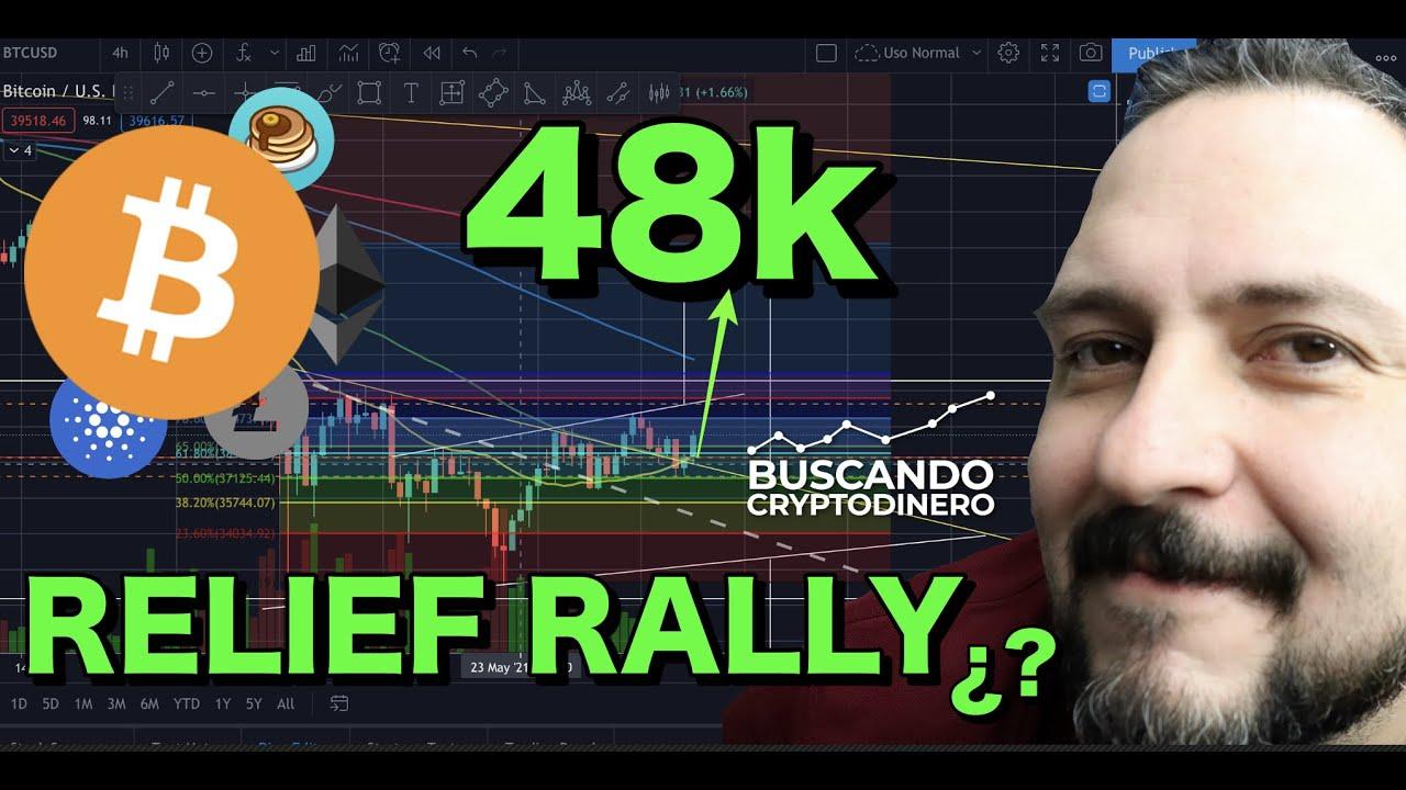 """✅ Bitcoin hacia 48k """"Relief Rally""""?? + 21 monedas y Rifa de Litecoin !!!"""