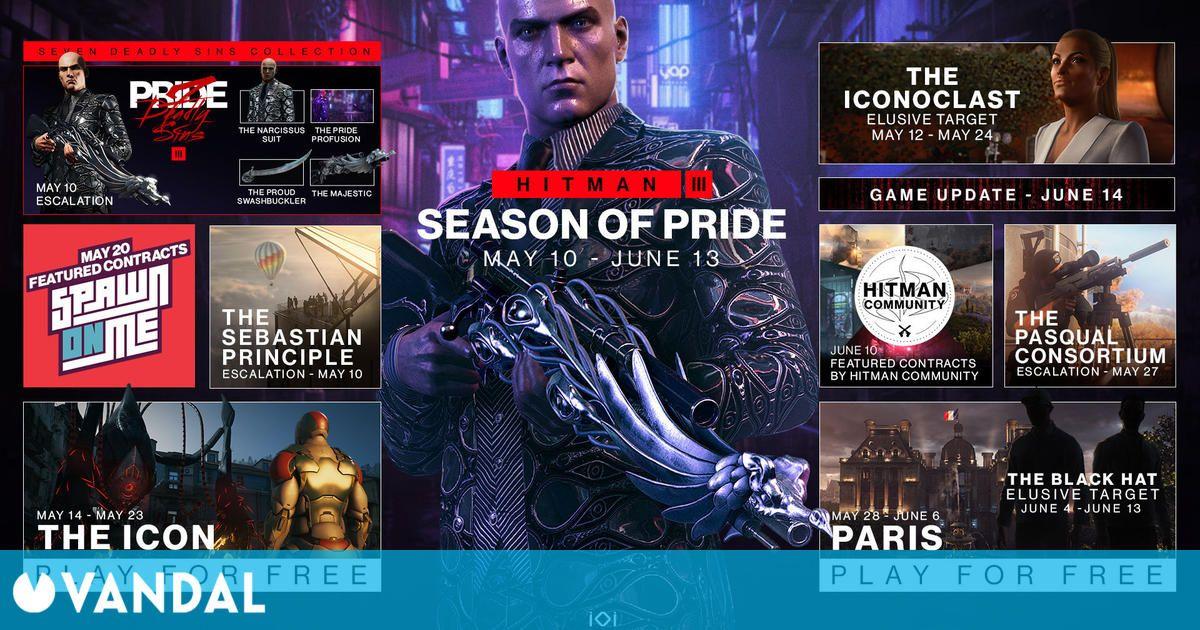 Hitman 3 desvela el contenido gratuito y de pago de la Season of Pride, ya disponible