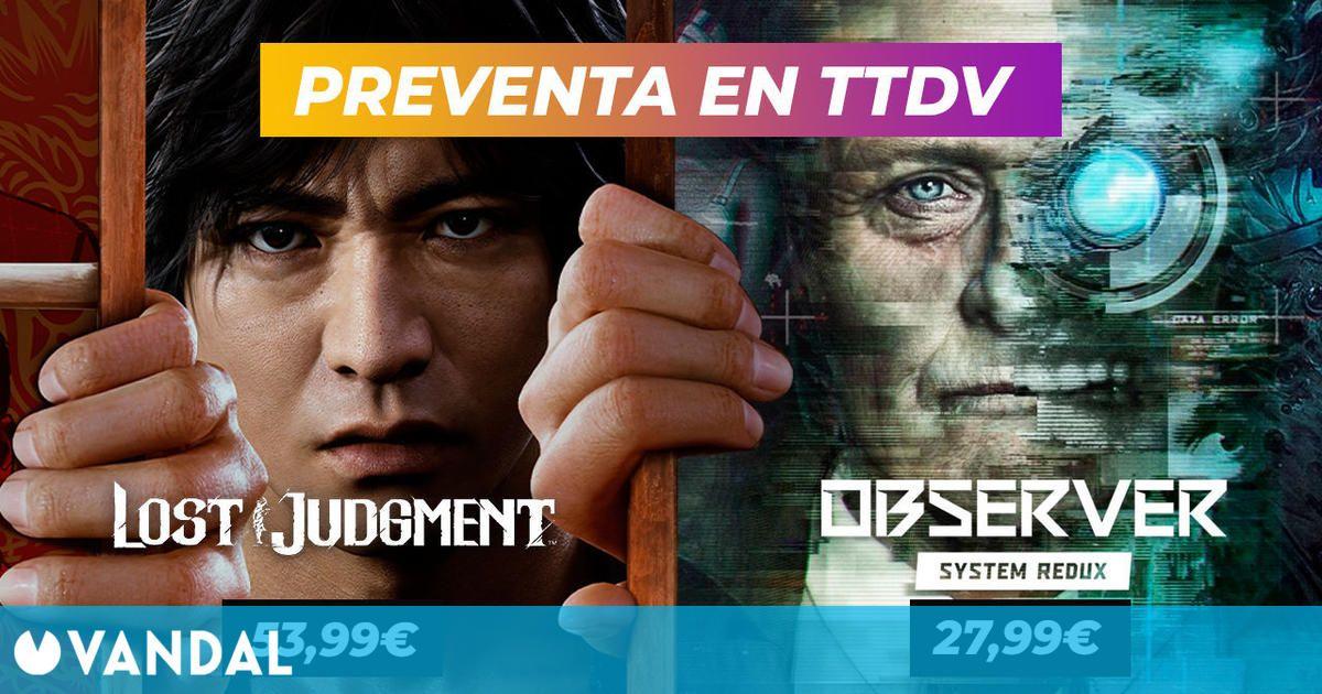 Lost Judgment y Observer System Redux ya se pueden reservar en TTDV