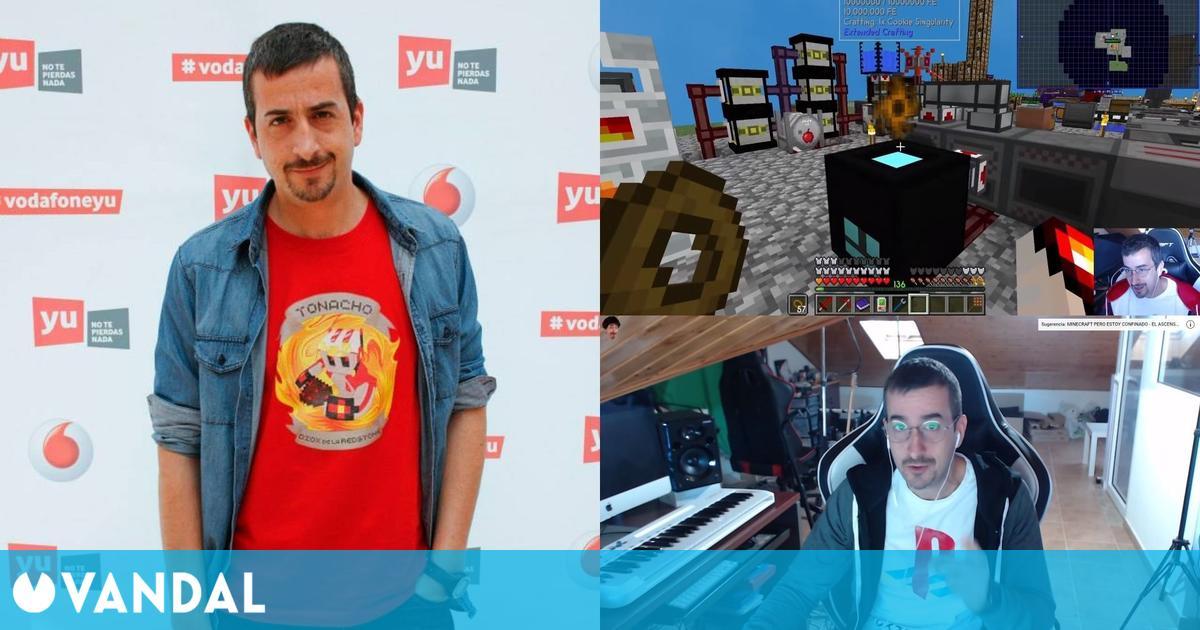 Tonacho, el creador de contenido que lleva 10 años jugando a Minecraft y es experto en Redstone