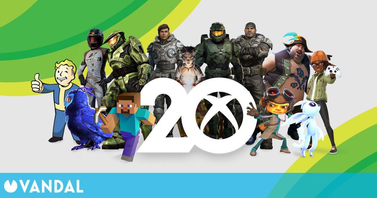 Xbox celebra su 20 aniversario con eventos, merchandising, fondos de pantalla y más