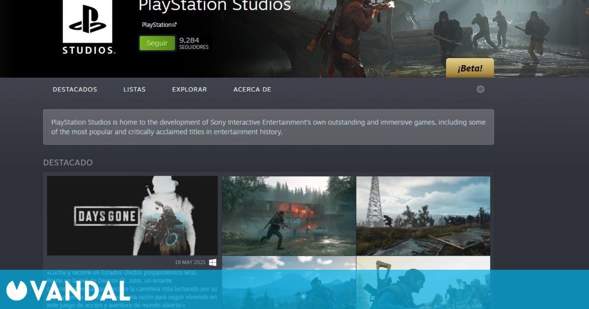 La página de PlayStation en Steam ya está activada y oculta más contenido de Sony para PC
