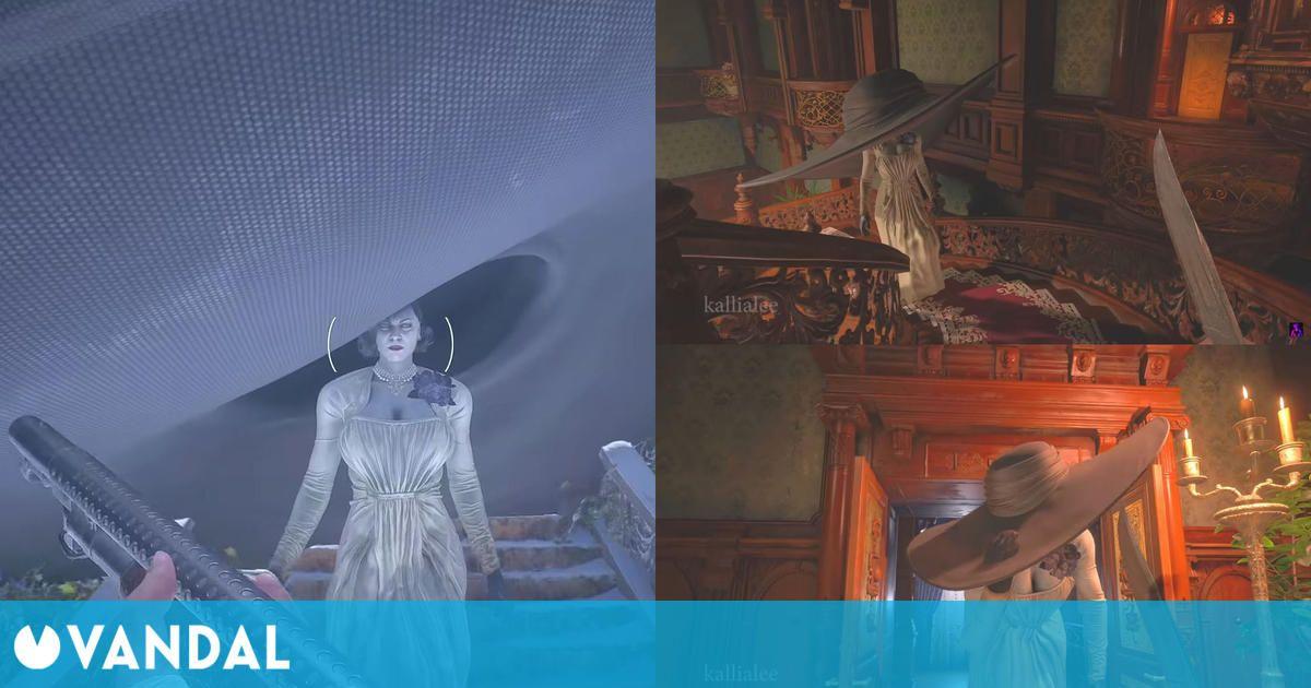 Resident Evil Village: Un divertido mod hace crecer el sombrero de Lady Dimitrescu al mirarla