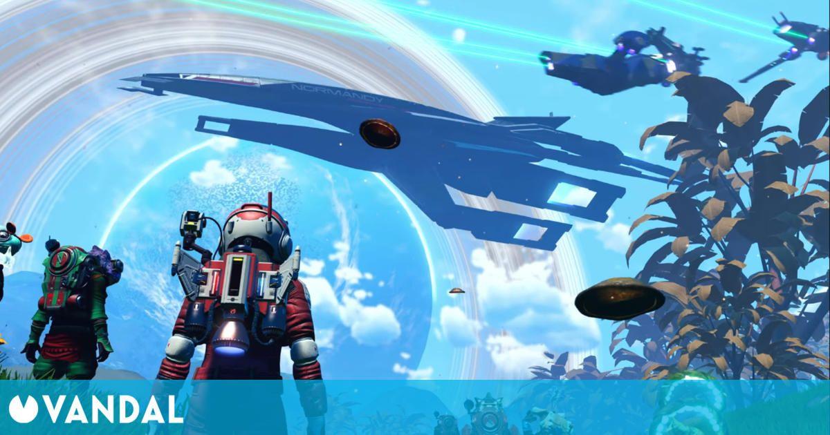 No Man's Sky recibe la nave Normandy de Mass Effect para celebrar la Legendary Edition