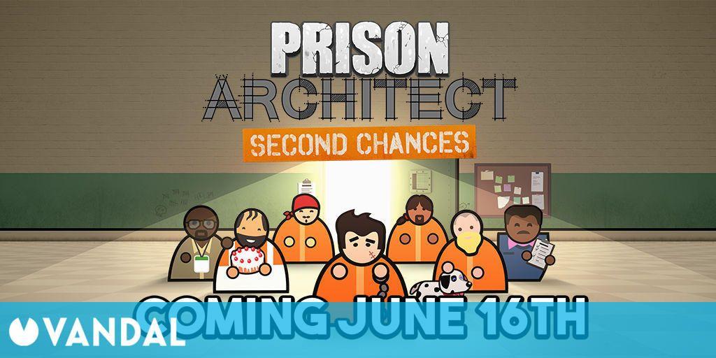 Prison Architect: Second Chances, la nueva expansión de Prison Architect, llegará en junio