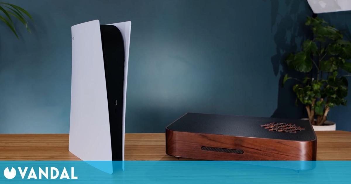 Crean una sorprendente PS5 personalizada con una cobertura de madera y un estilo retro