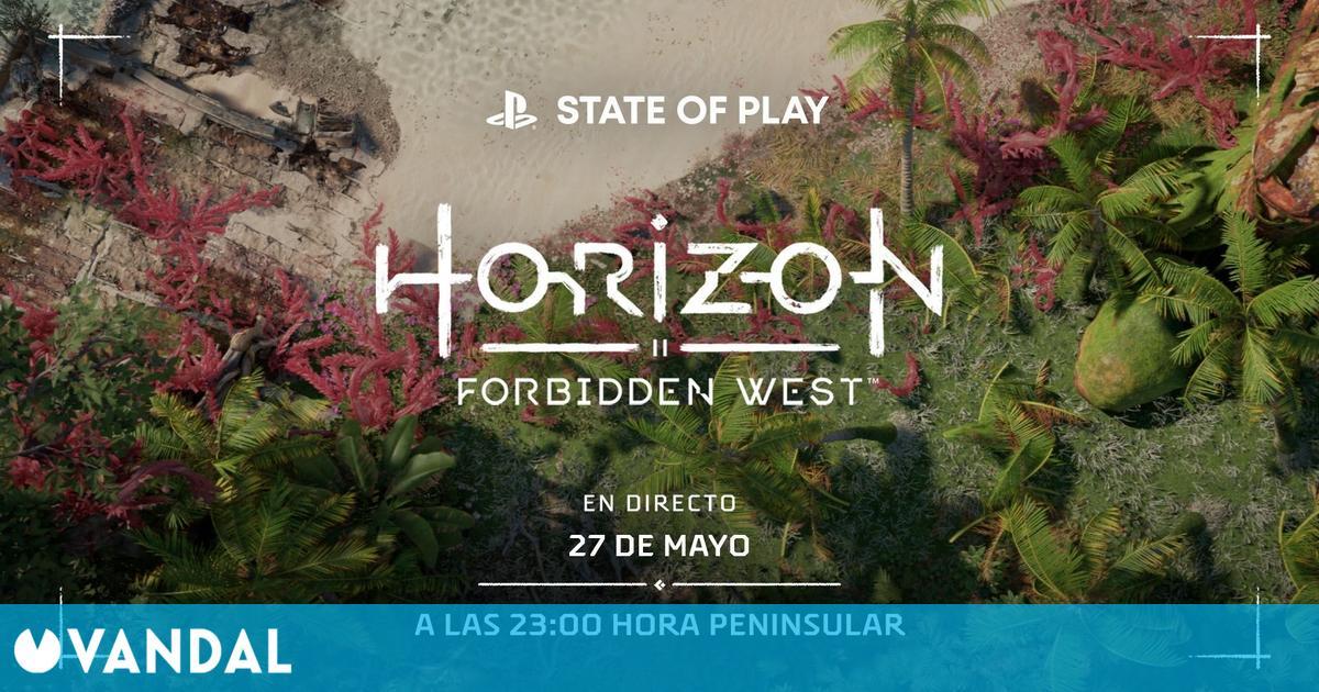 Horizon 2: Forbidden West se mostrará en un nuevo State of Play este jueves 27 de mayo