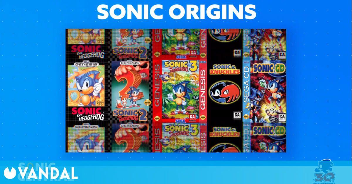 Anunciado Sonic Origins, un recopilatorio para celebrar el 30 aniversario del erizo azul