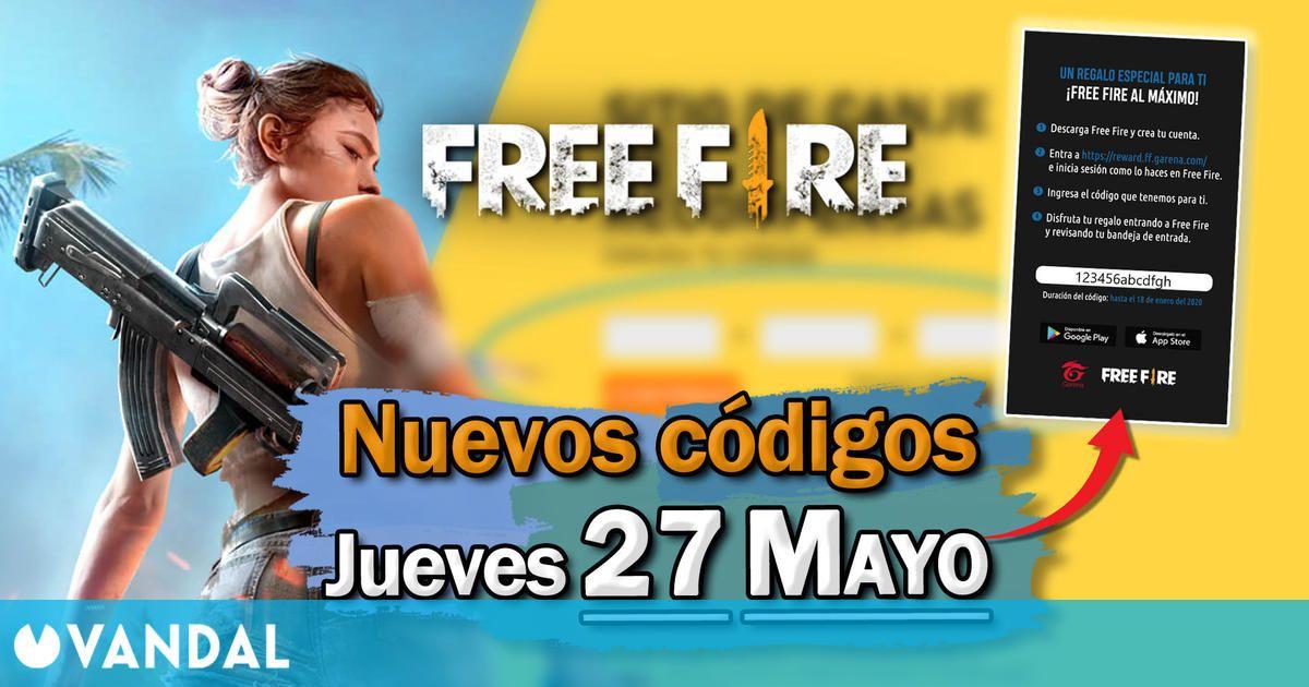 Free Fire: Códigos para hoy jueves 27 de mayo de 2021 – Recompensas gratis