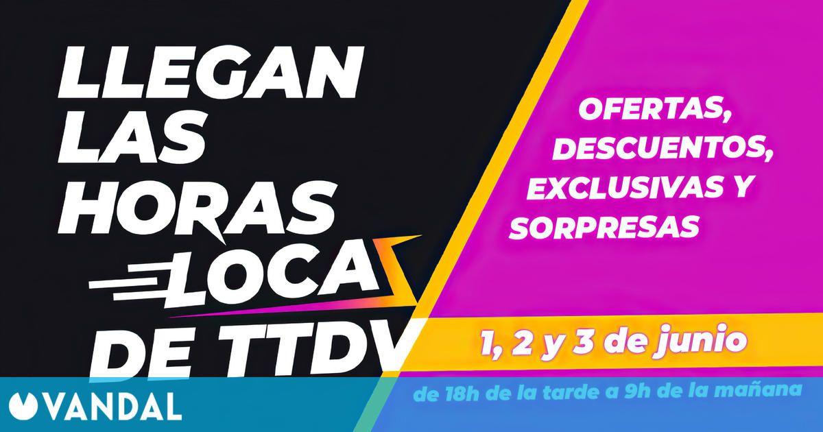 Llegan Las horas locas de TTDV, con ofertas los días 1, 2 y 3 de junio