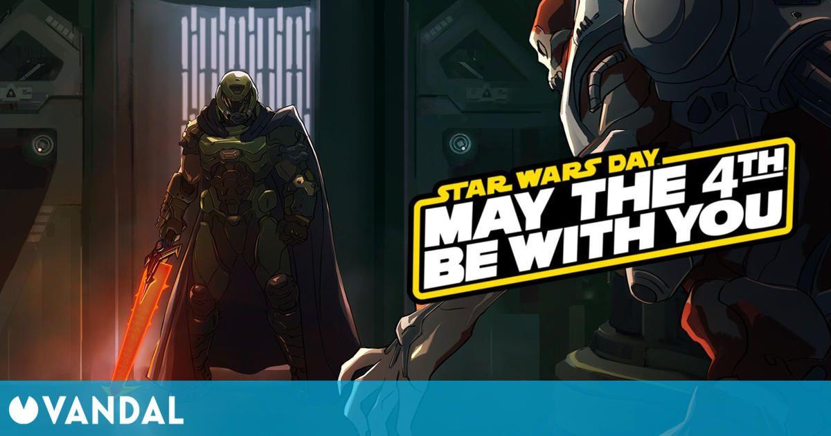 Bethesda celebra el Día de Star Wars con una ilustración de DOOM al estilo Darth Vader
