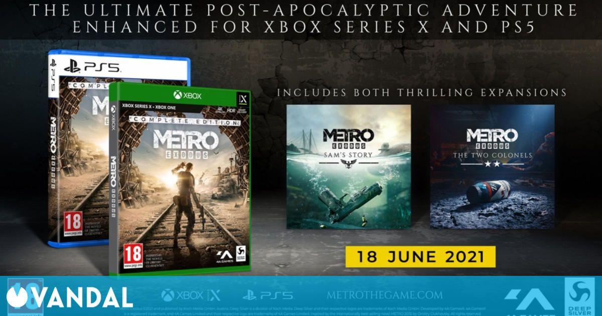 Metro Exodus Complete Edition llegará a PS5 y Xbox Series X/S el 18 de junio a 4K y 60 fps