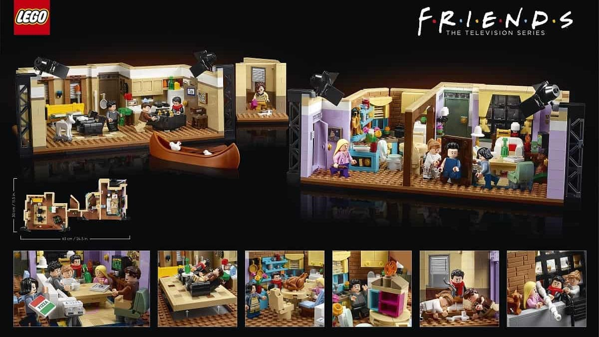 El set definitivo de Lego y Friends con los dos apartamentos