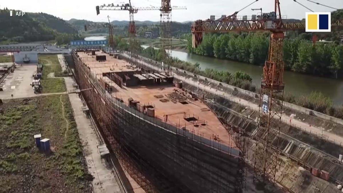 China construye una réplica del Titanic a tamaño real