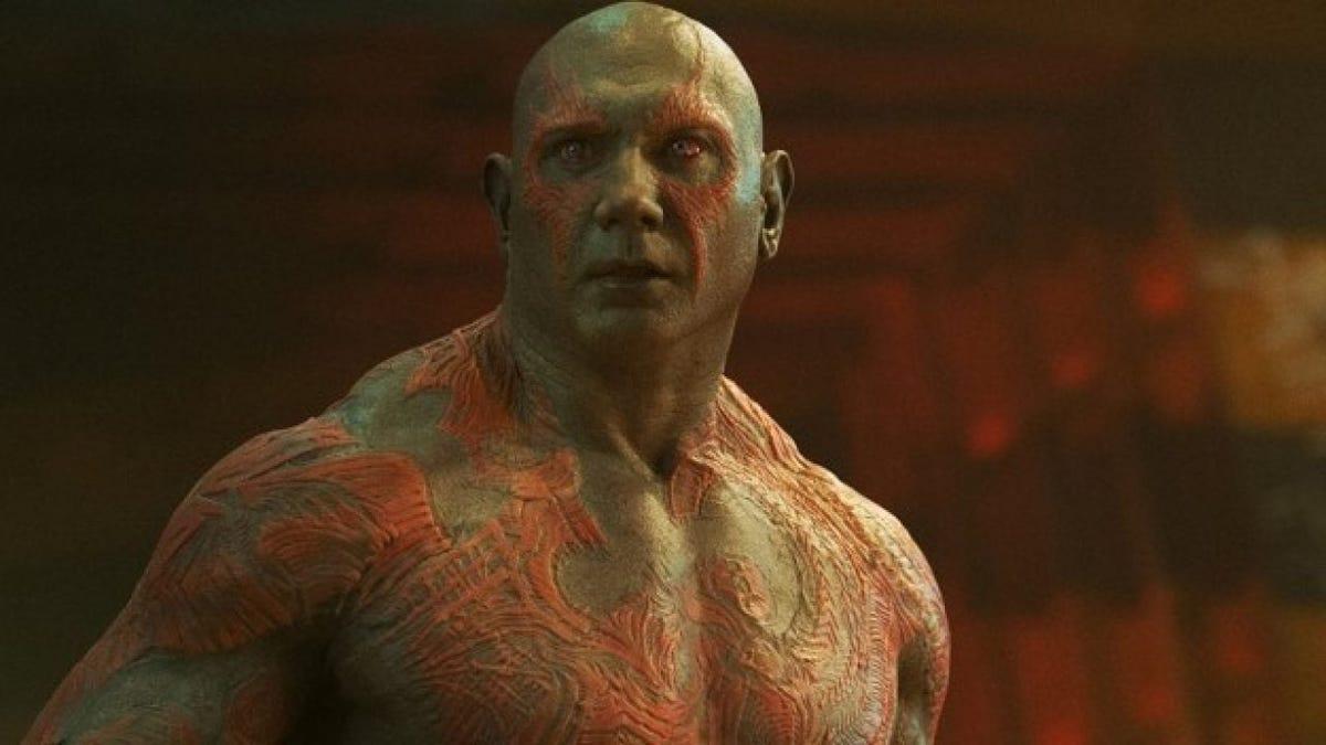 Dave Bautista no hará más de Drax en las películas de Marvel