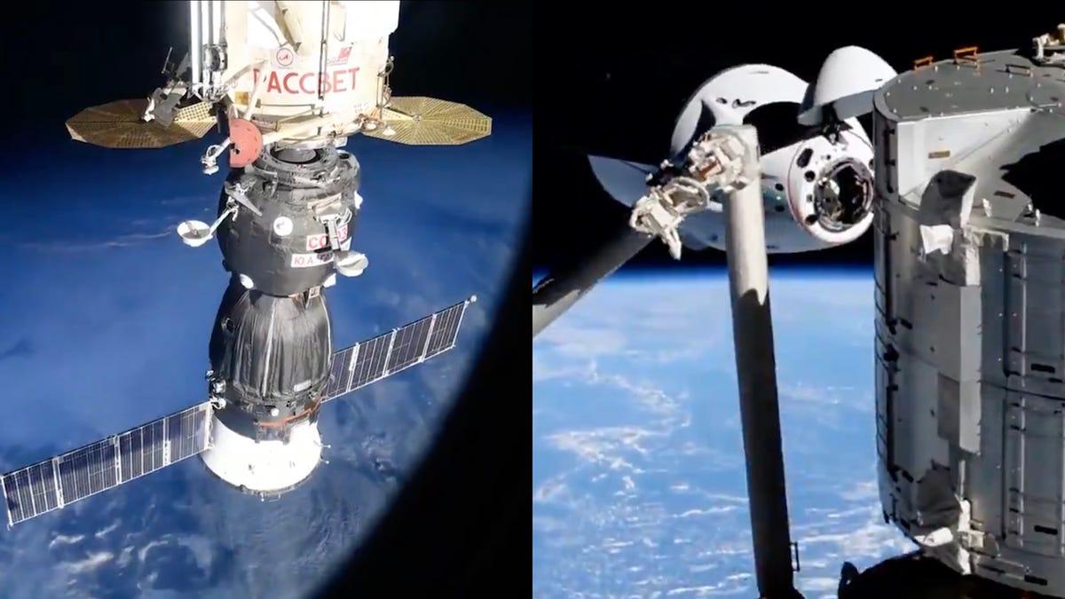 Estos espectaculares time lapses muestran cómo se acoplan las naves espaciales a la Estación Espacial Internacional