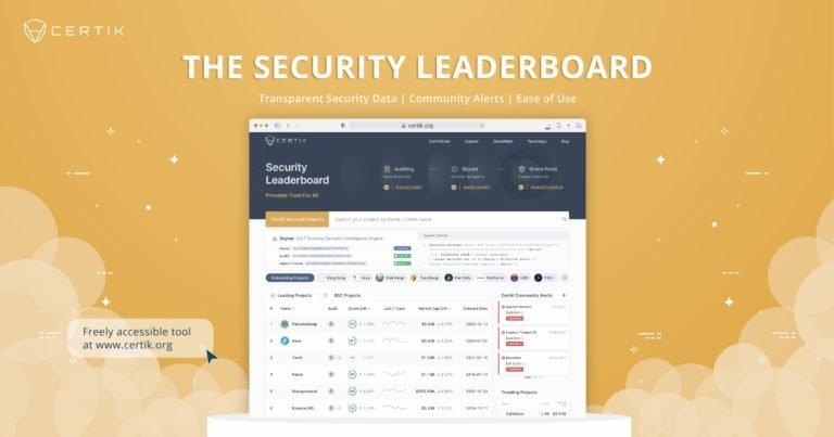 Elevando los estándares de seguridad: CertiK presenta la tabla de clasificación de seguridad, una herramienta poderosa para inversores minoristas que navegan por la web descentralizada